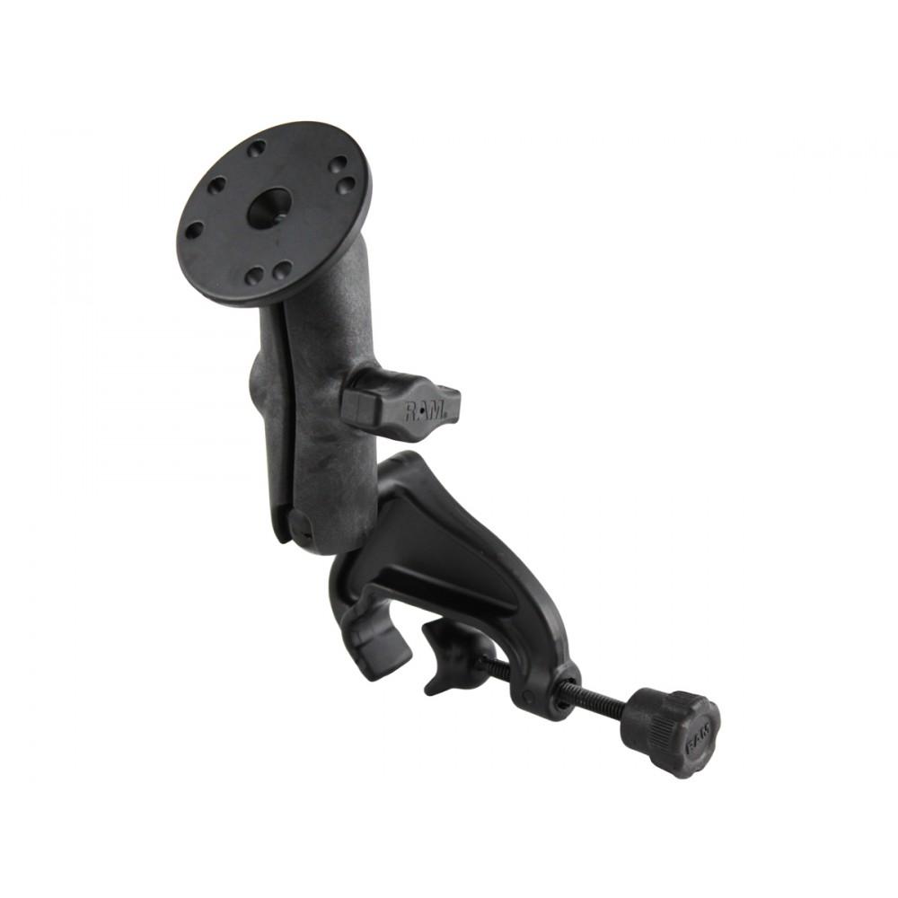 RAM Монтажно с основа с  вилка и скоба, композитно рамо с гнезда и кръгла алуминиева плоча, Размер В
