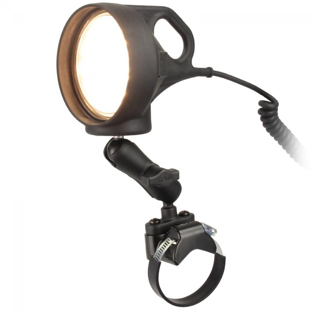 RAM ATV/UTV Монтажно устройство за рейлинг с LED осветление, Размер В