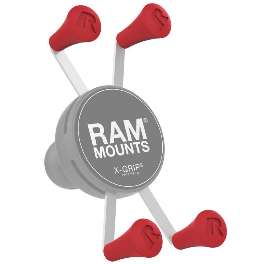 RAM X-Grip резервни тапи - червен цвят, Комплект от 4 броя