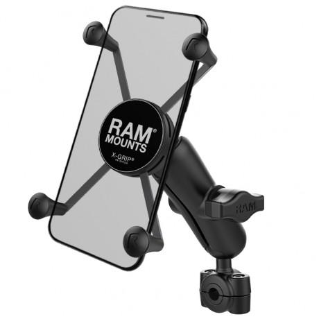 RAM X-Grip Монтажно за големи смартфони с RAM Torque основа за малък рейлинг, Размер В