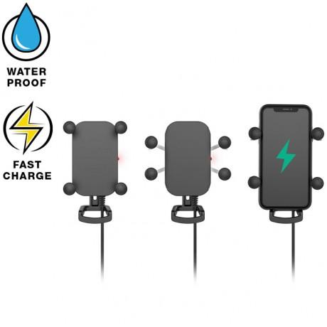 RAM® Tough-Charge™ безжично, водоустичиво зарядно с  X-Grip®   държач за телефон, Размер В