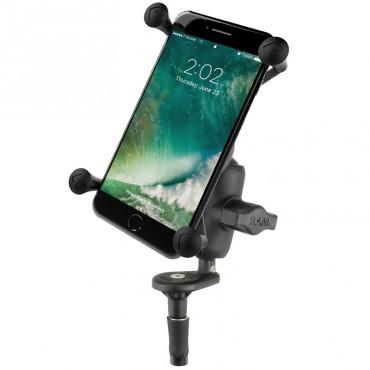 RAM X-Grip стойка за големи смартфони с основа за вилка на мотоциклет, Размер В